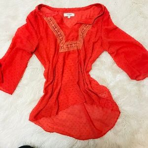 Coral Blouse **BUNDLE AND SAVE 30%**